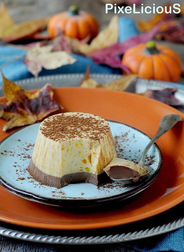 panna cotta zucca e cioccolato fondente
