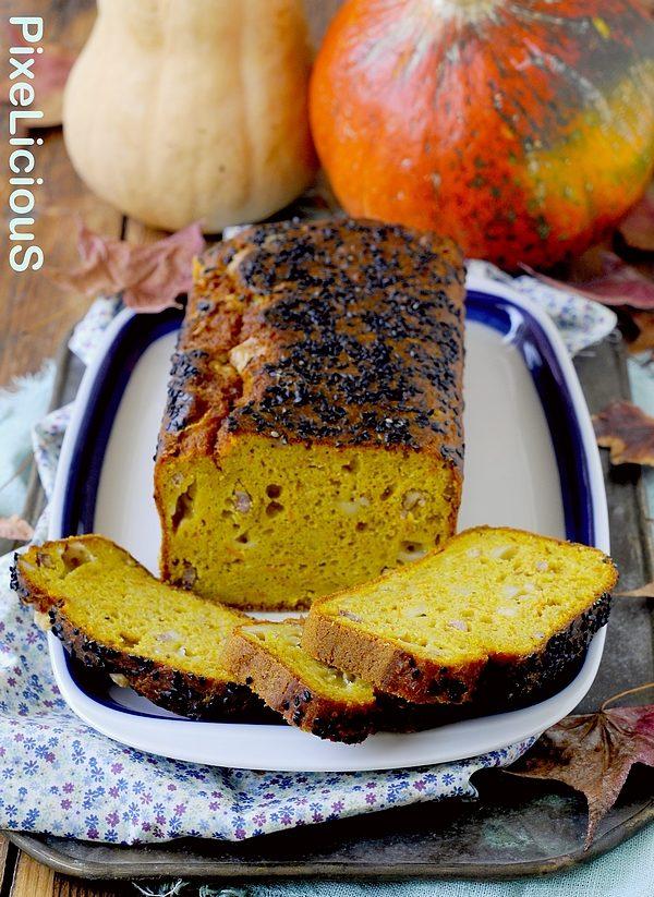 Cake Salato alla Zucca con Pancetta, Gruyère e Curry
