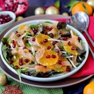 Insalata Mista con Clementine, Salmone, Topinambur e Melagrana