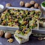 Focaccia Multicereali con Broccoli, Olive Taggiasche e Noci