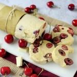 Salame al Cioccolato Bianco con Ciliegie