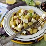 Pasta Fredda con Zucchine Grigliate e Marinate alla Menta, Limone, Feta e Olive Kalamata