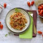 Spaghetti al Sugo di Moscardini con Pomodorino Corbarino
