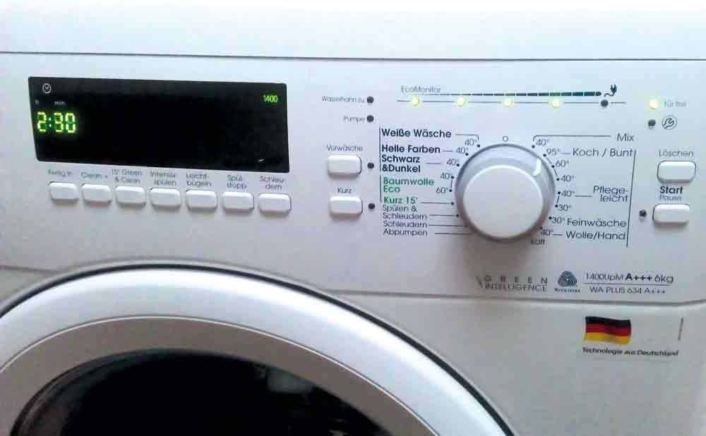 Waschmaschinentest im Familienalltag Bauknecht WA Plus 634 A+++