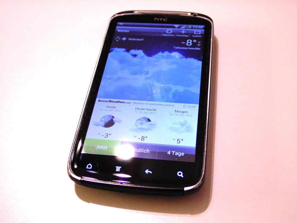 Das HTC Sensation Smartphone wird seinem Namen gerecht