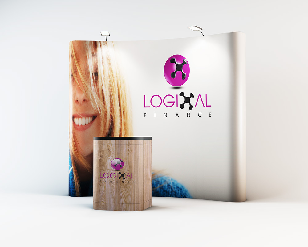 exhibition stands are a great way to display your new logo design