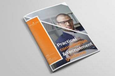 Image of a recruitment agency's annual report design