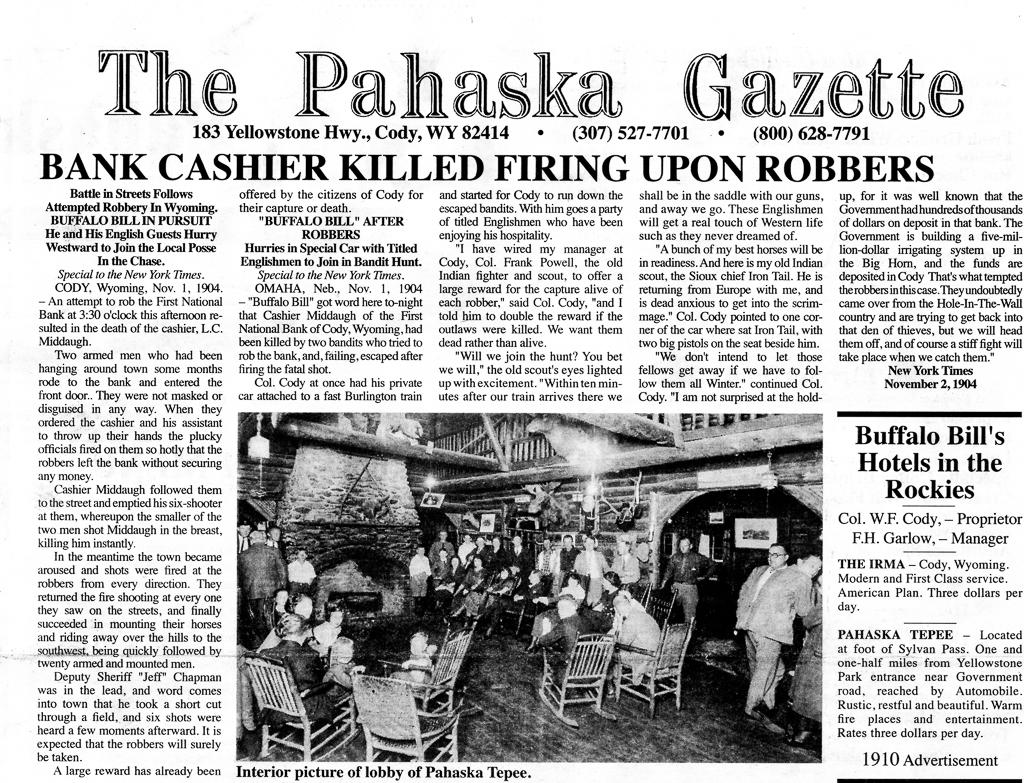 Pahaska Gazette 1904