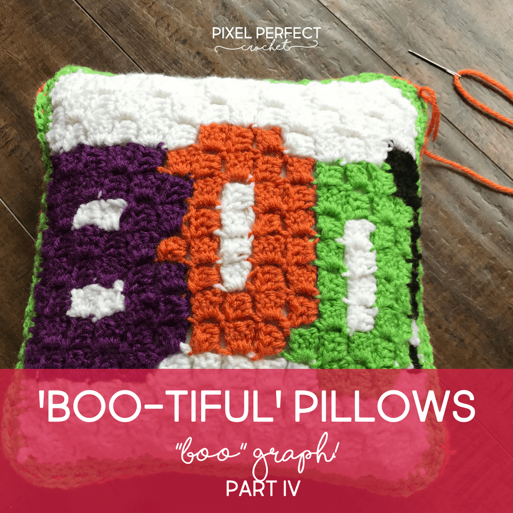 Boo-tiful Crochet Halloween Pillow | Part 3 | Free Graph and