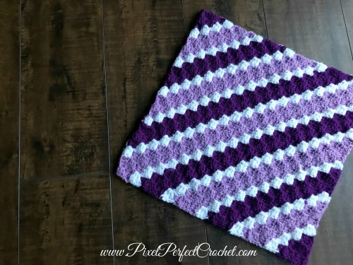 Purple Crochet Stripes