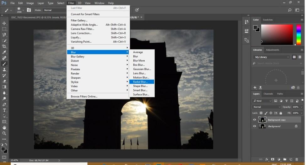 Zoom Burst Effect in Photoshop