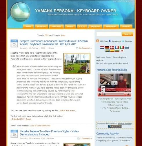 Yamaha Personal Keyboard Owner