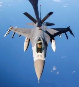 F-16C takes on gas over the Pacific during Cope North