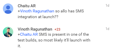 SMS Comment