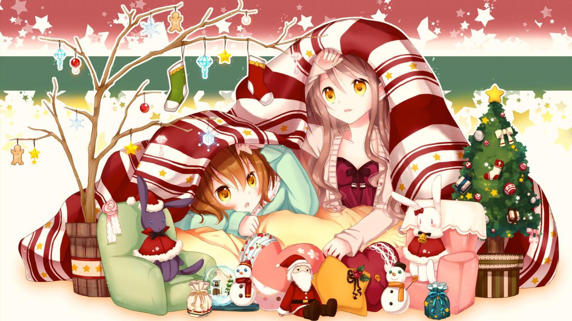 Cute Anime Girl Christmas Wallpapers HD