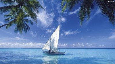 Blue sea travel wallpaper hd   PixelsTalk.Net