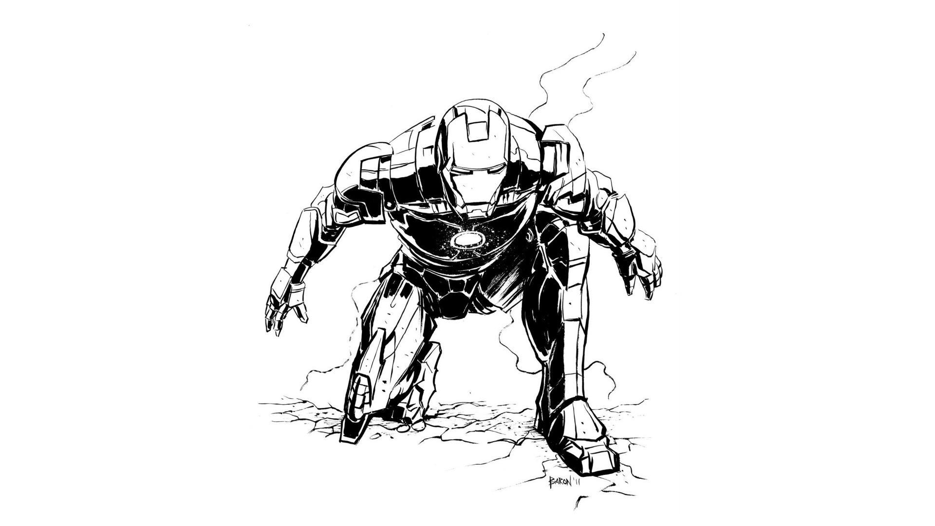 Iron Man Comic Cartoon Wallpapers