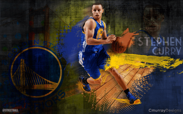 Golden State Warriors Steph Curry Wallpaper.