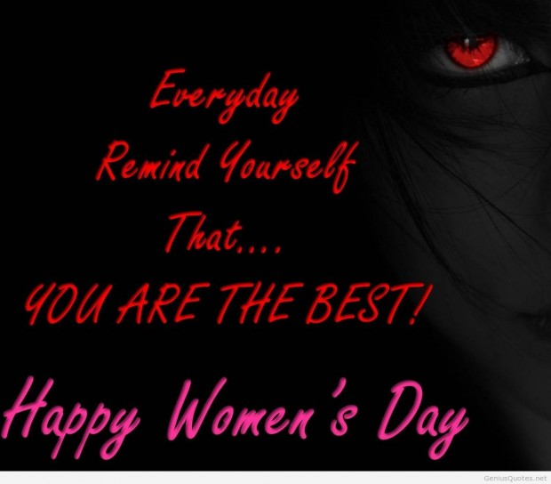 Womens Day quote wallpaper.