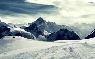 Snowy mountains winter wallpaper. - Media file ...