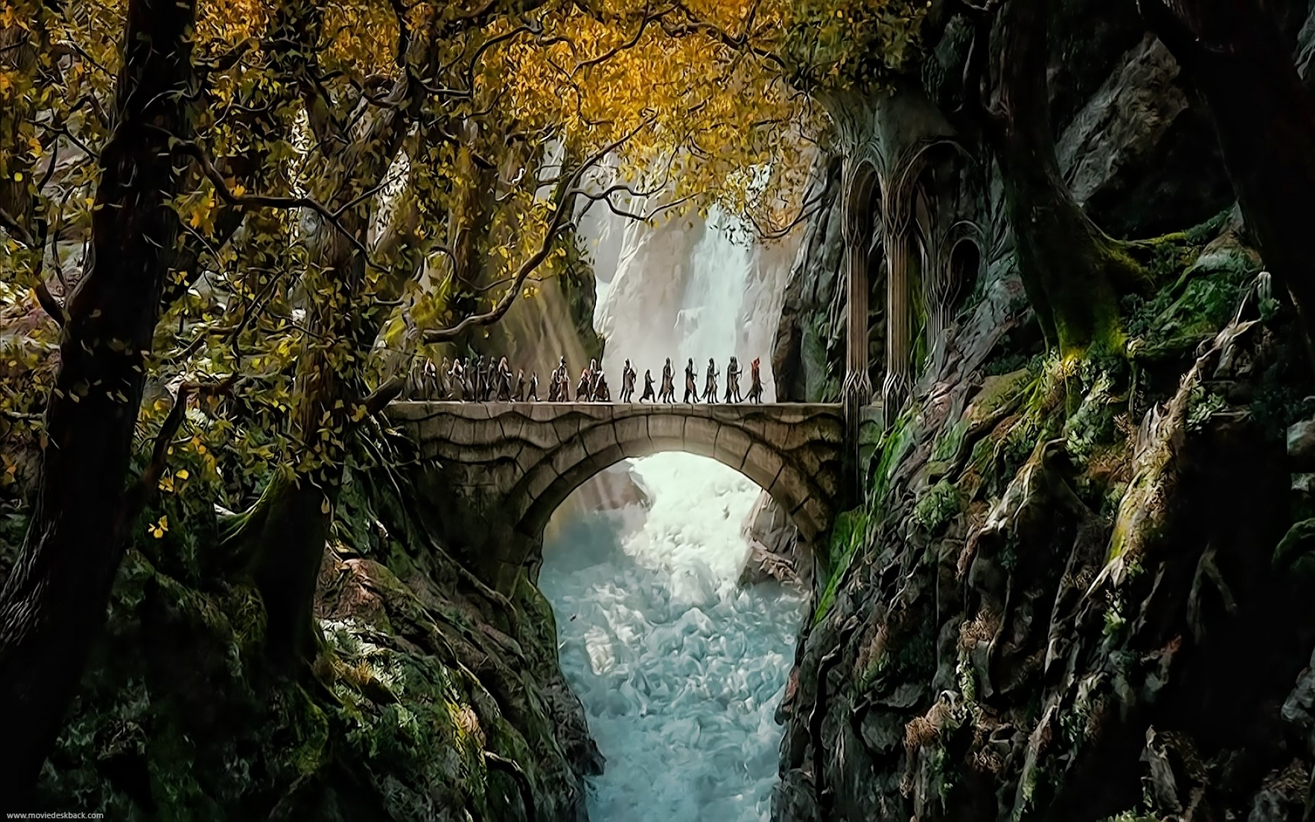 Forest Bridge Desktop Wallpaper Hd