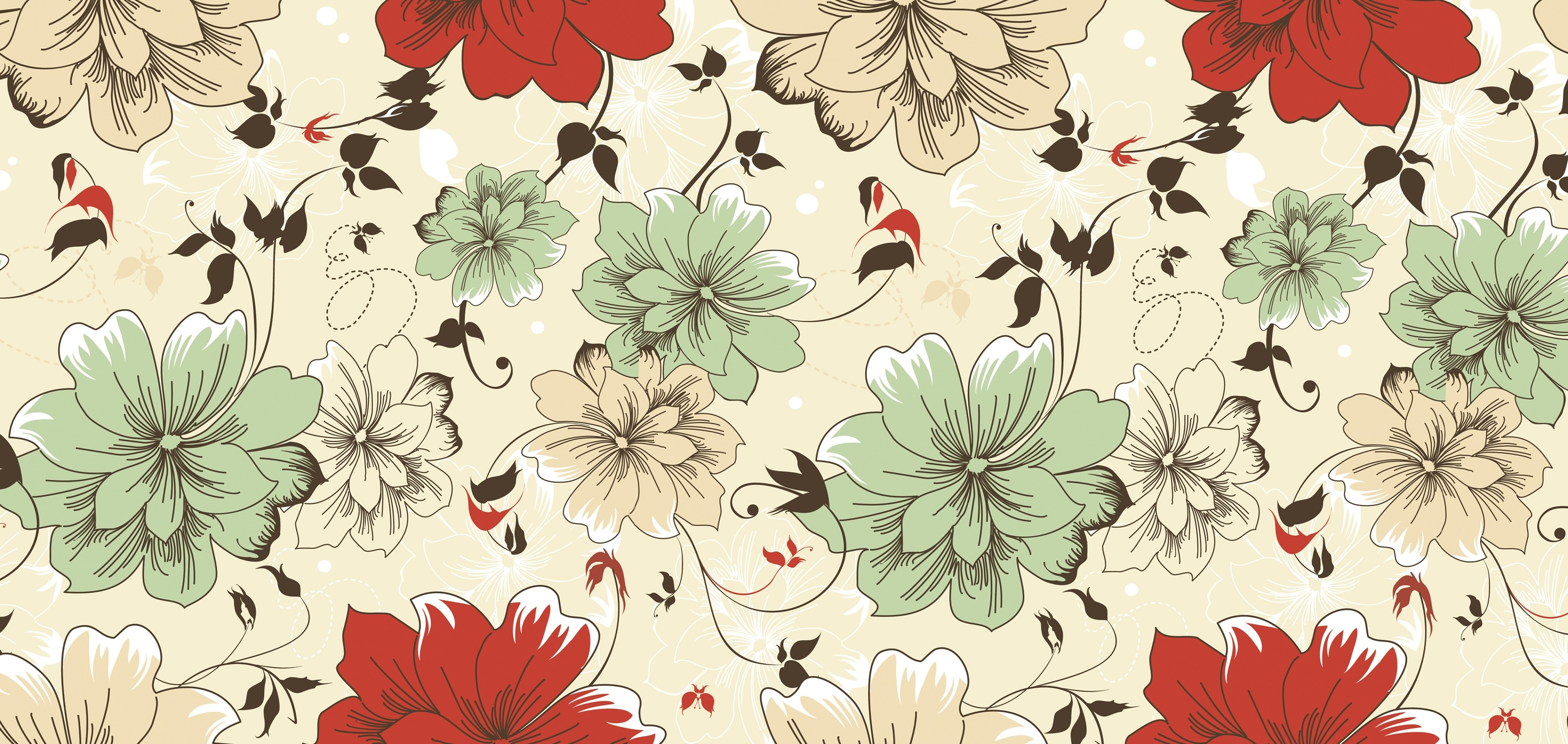 Vintage Floral Wallpaper Hd Pixelstalk Net