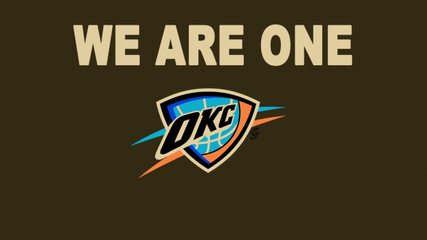Oklahoma City Thunder Logo Wallpaper.