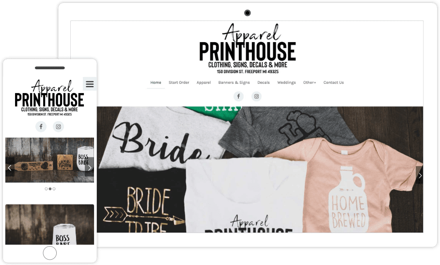 Download Apparel Printhouse Freeport MI | Pixelvine Creative