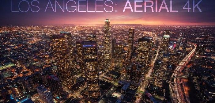 Paysage urbain aérien de Los Angeles par Michael Shainblum