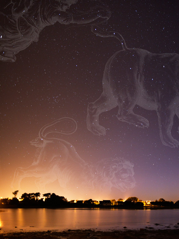 Regulus (The Lion) & Ursa Major (The Great Bear or the Big Dipper)