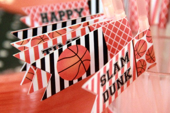 Basketball Printable Birthday Decorations by Pixiebear Party Printables