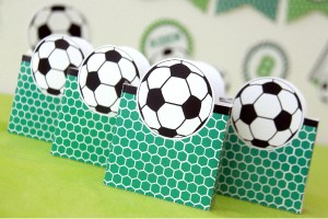 Soccer Party Favor Boxes Decorations by Pixiebear Party Printables