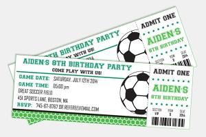 Soccer Birthday Invitation by Pixiebear Party Printables
