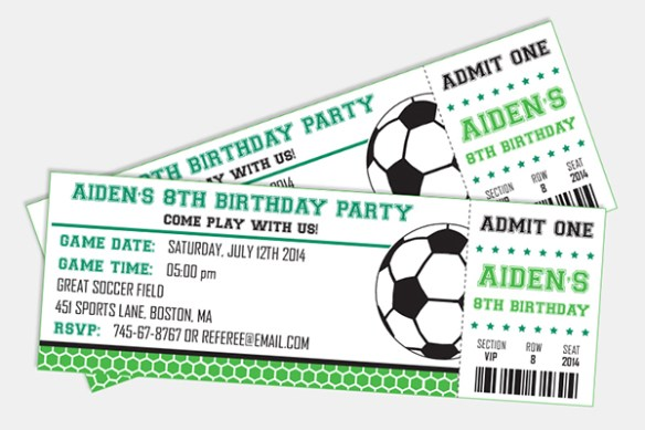 Soccer Birthday Invitation by Pixiebear Party Printables