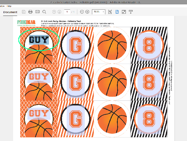 How to edit party printable files with your own wording