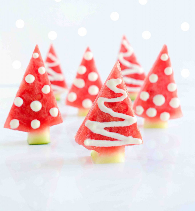 Christmas In July Party Ideas Part - 23: Christmas In July Party Ideas - Watermelon Christmas Trees. Watermelon  Christmas Trees (Photo Via Onehandedcooks.com.au)