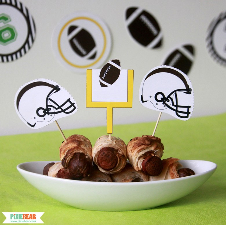 Game Day Football Party Ideas by Pixiebear Party Printables