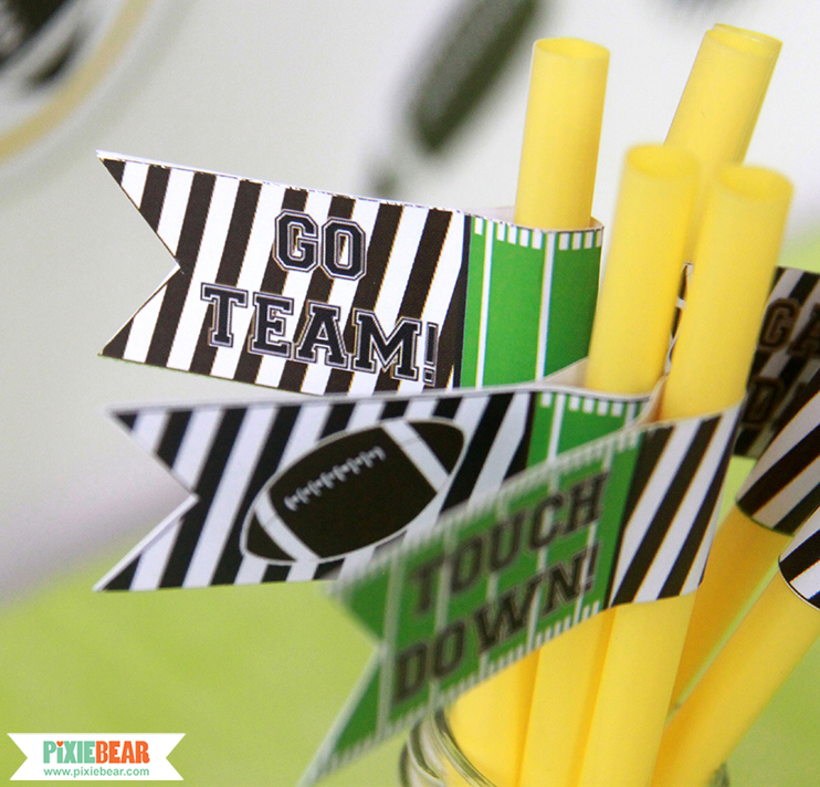 Football Party Decorations by Pixiebear Party Printables