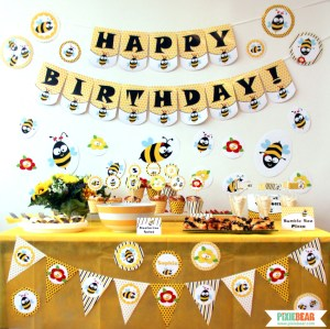 Bee Party by Pixiebear Party Printables