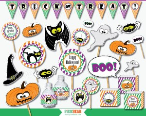 Halloween Birthday Party Decorations by Pixiebear