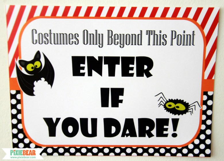 Halloween Printable Party Sign by Pixiebear