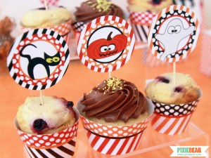 Halloween Cupcake Toppers by Pixiebear