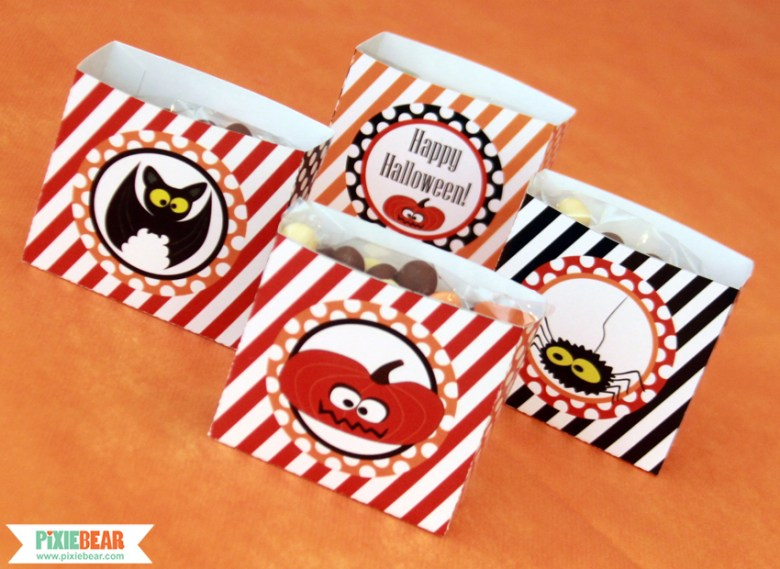 Halloween Party Favor Boxes by Pixiebear Party Printables