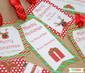 Printable Summer Christmas Tags by Pixiebear Party Printables