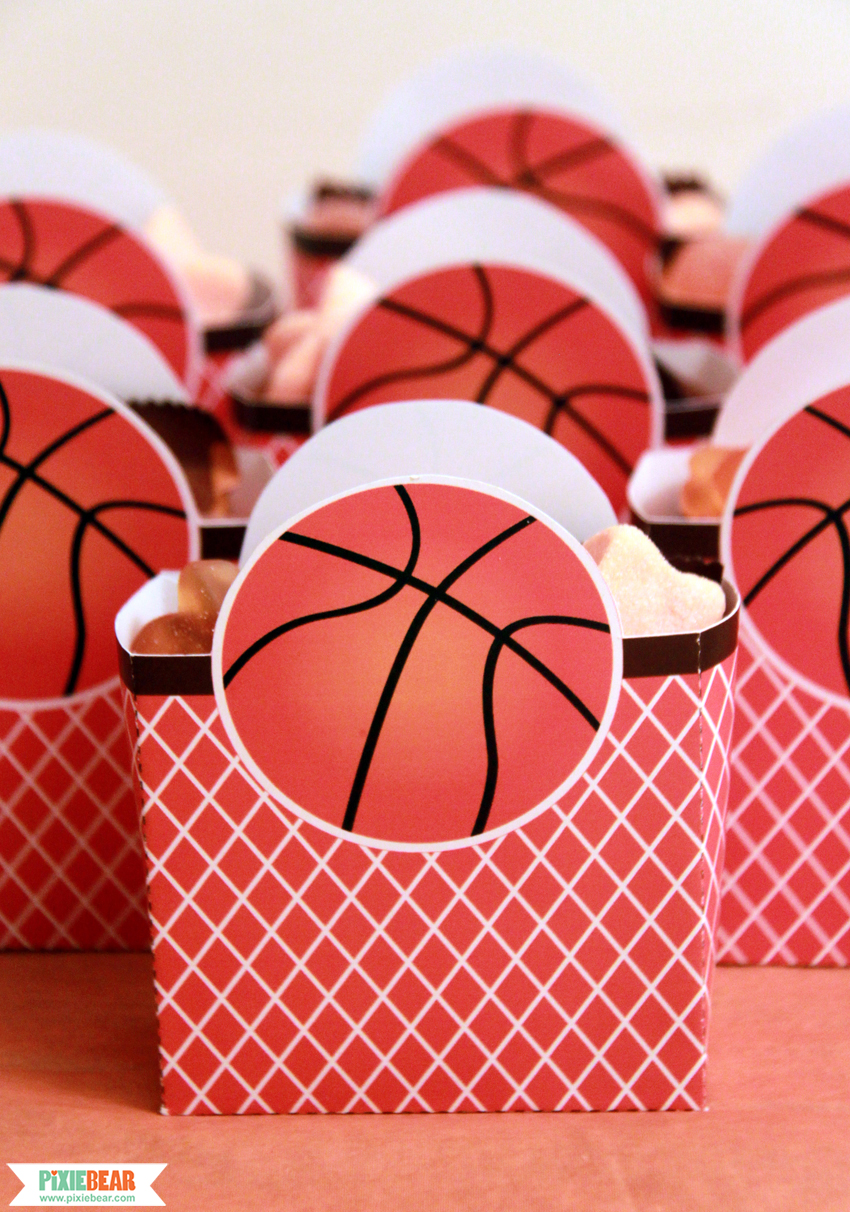 Basketball Party Favor Boxes by Pixiebear Party Printables