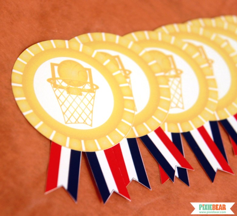 Basketball Party Medals by Pixiebear Party Printables