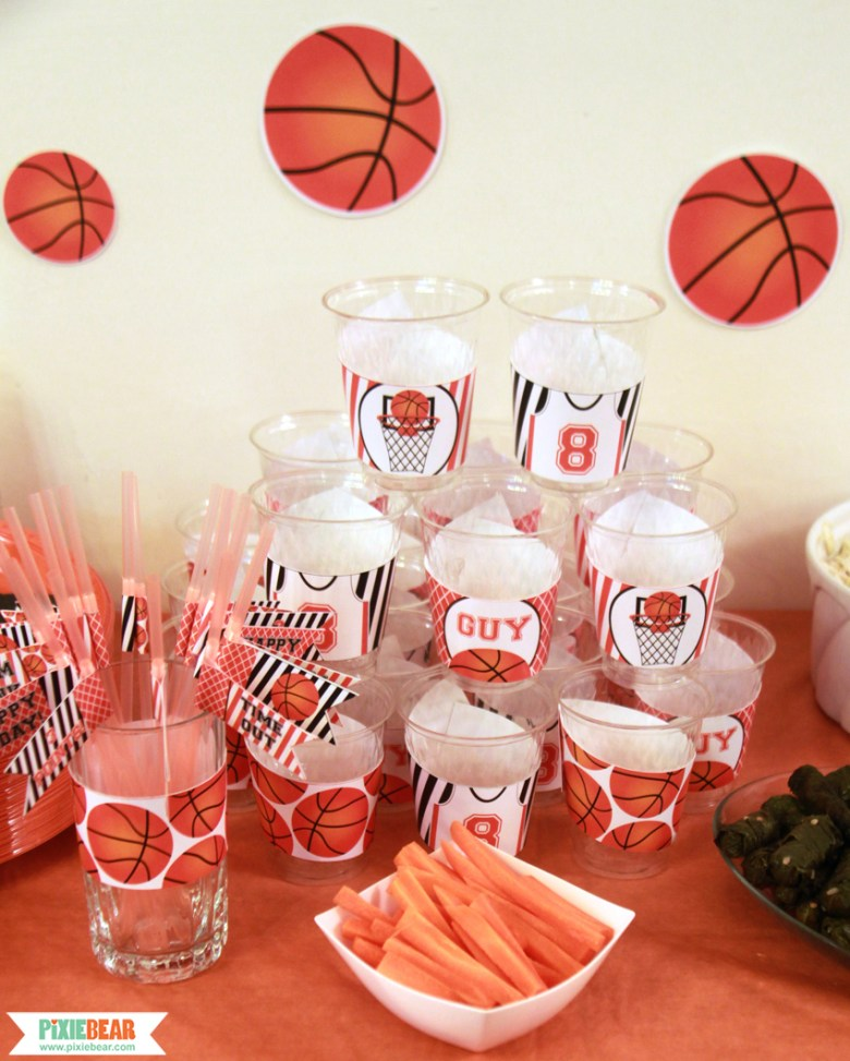 Basketball Party Decorations by Pixiebear Party Printables