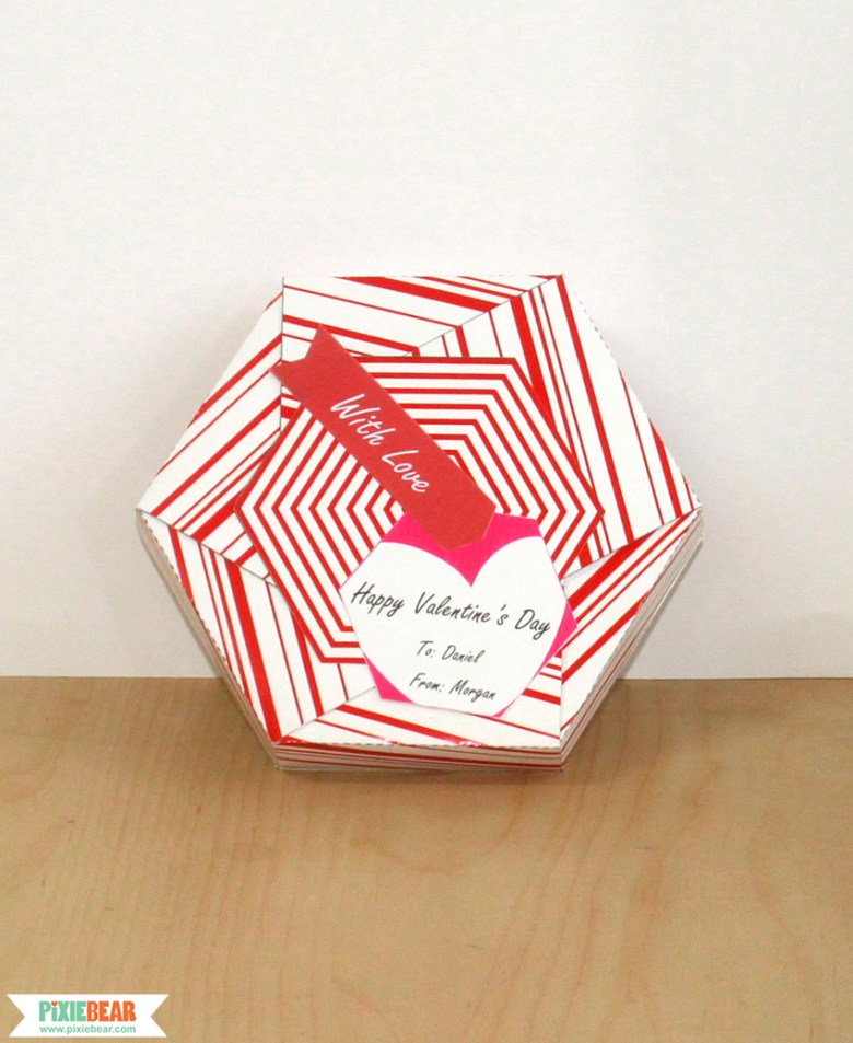 DIY Valentine's Day Gift Box by Pixiebear Party Printables