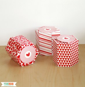 Printable Valentine's Day Gift Boxes by Pixiebear Party Printables