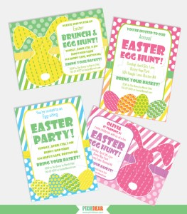Easter Invitations by Pixiebear Party Printables